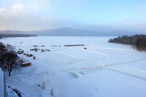 大雪後の阿寒湖