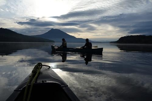阿寒湖でカヌーに乗ろう♪