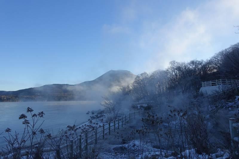 阿寒湖氷点下の朝