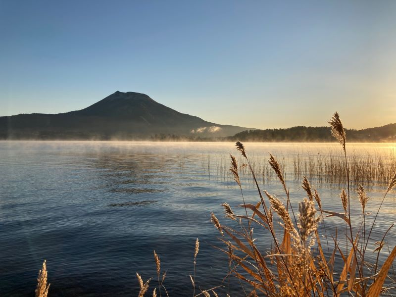 今朝の阿寒湖